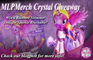 All About MLP Merch Crystal Giveaway. Win a Rainbow Shimmer Twilight Sparkle Brushable!