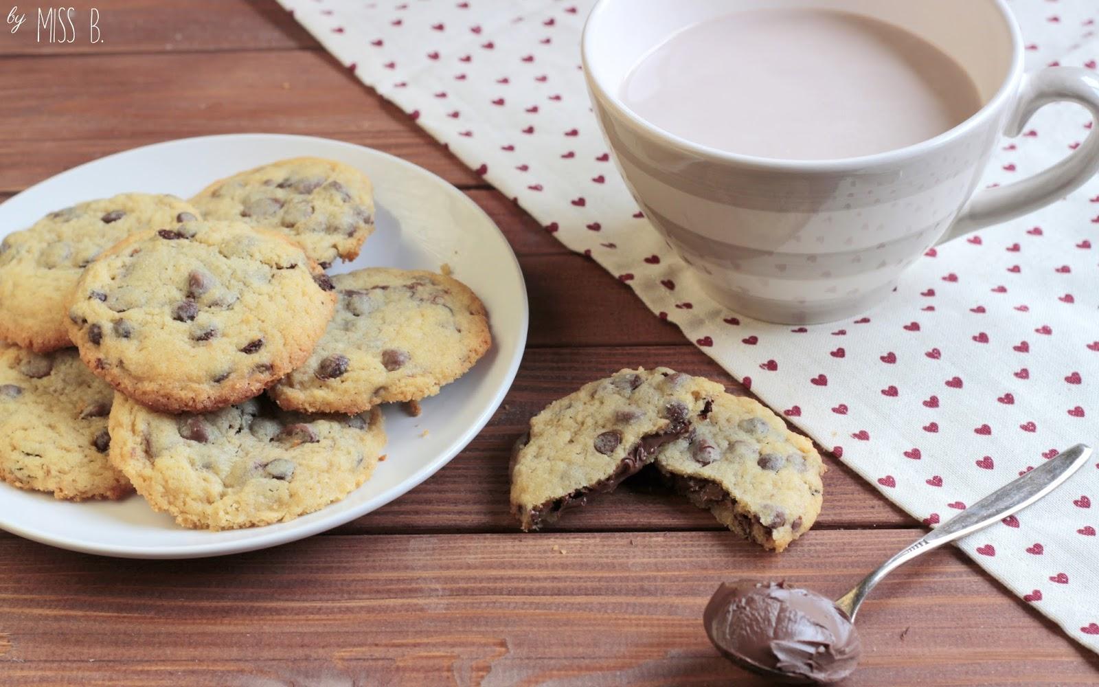 Miss Blueberrymuffin S Kitchen Chocolate Chip Cookies Mit Nutella