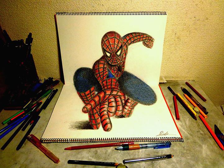 Incriveis Desenhos Do Artista Nagai Hideyuki Criam Perfeita Ilusao