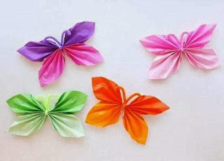 Cara Membuat Kerajinan Tangan Sederhana, Kupu-kupu Kertas 4