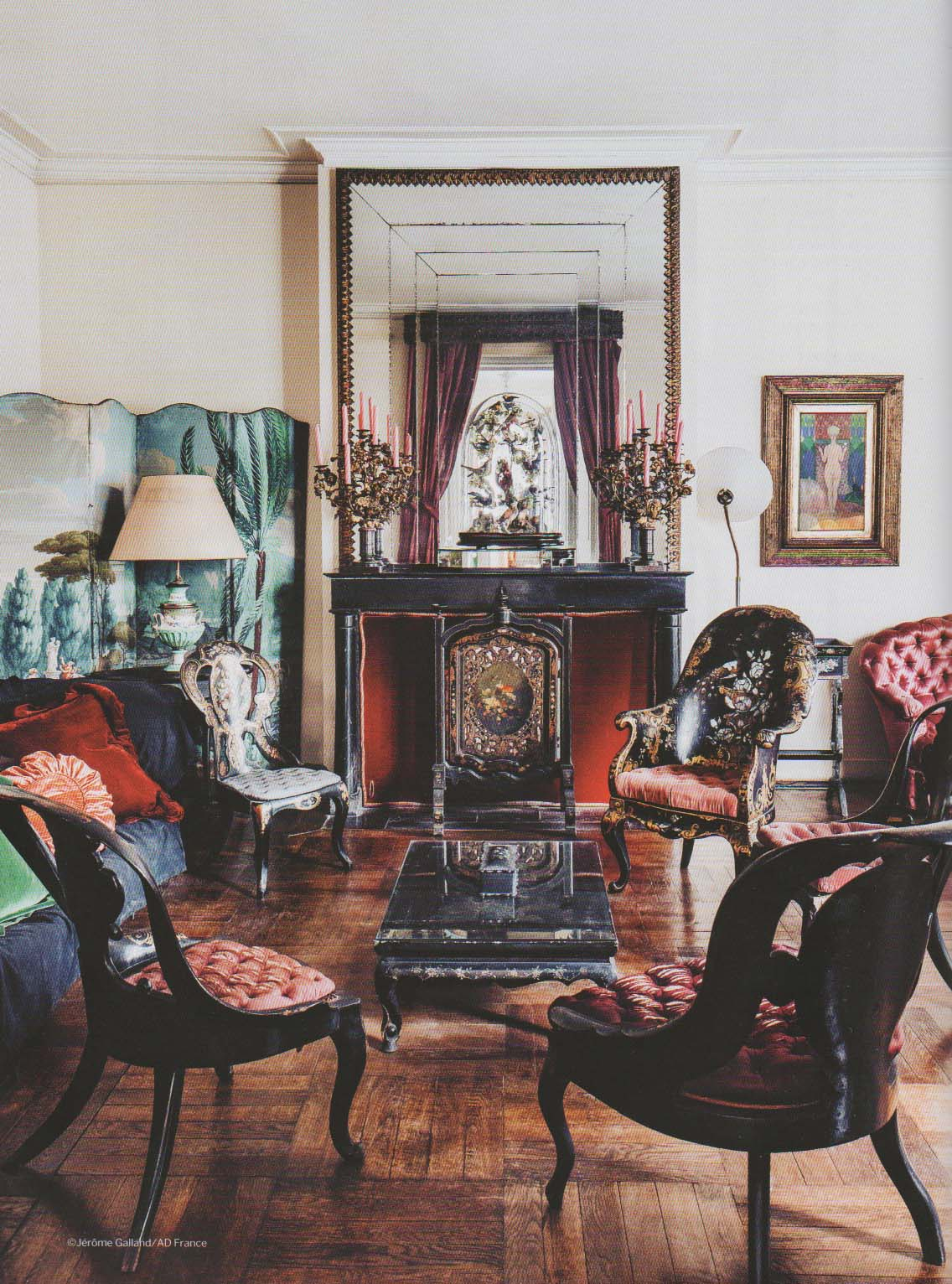 Papier Peint David Hicks the devoted classicist: notable homes: bernard boutet de