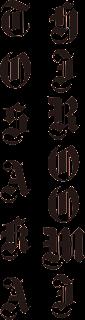 HIROOMI TOSAKA 英語表記のロゴ(縦組)