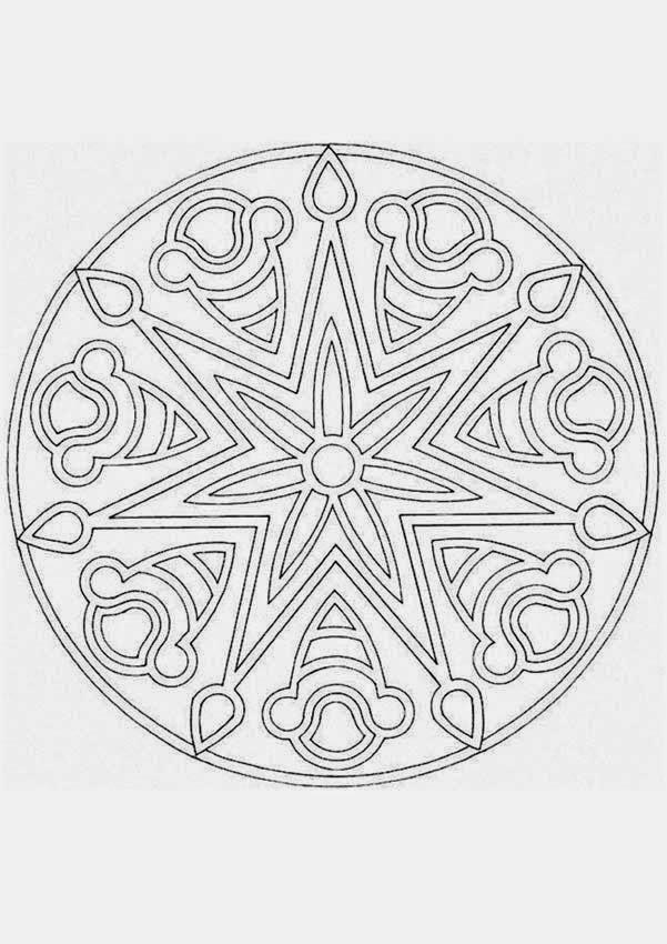 coloring pages basic mandala coloring pages free and printable. Black Bedroom Furniture Sets. Home Design Ideas