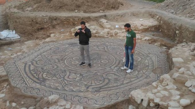 Sixth century mosaic unearthed in Italy's Galeata