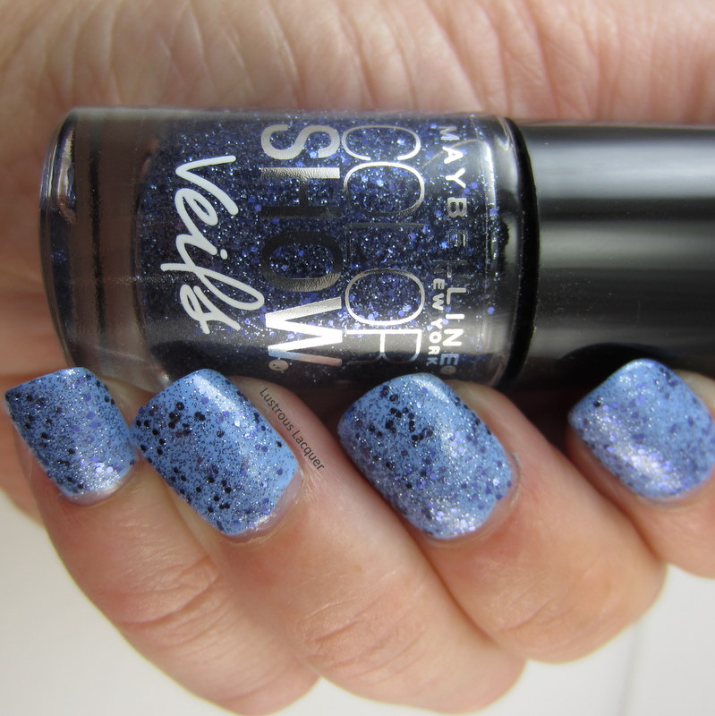 Blue glitter  nail polish with micro shimmer
