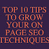 Best On Page SEO Techniques 2017: 10 Tips to Double Your Traffic