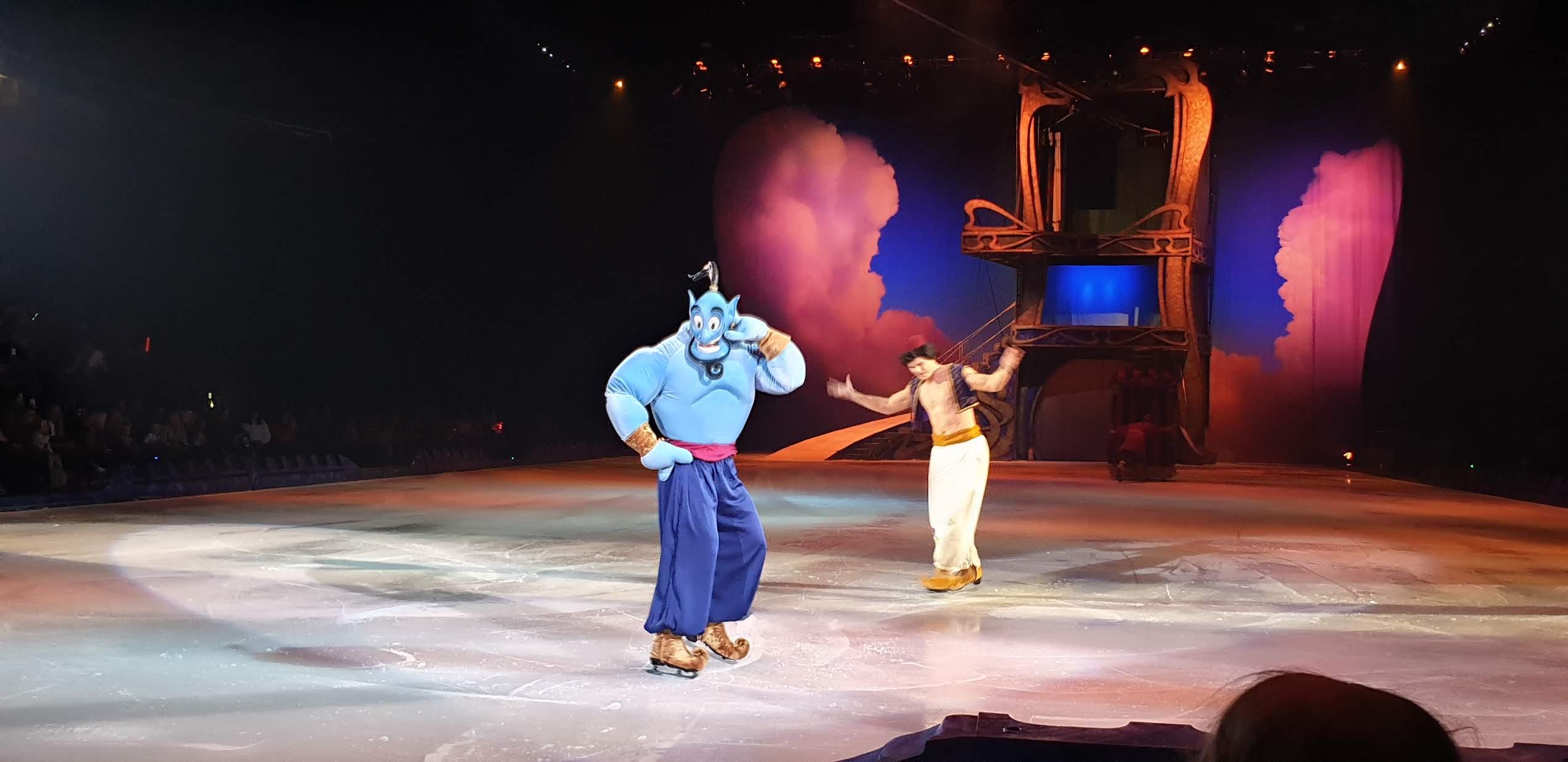 Aladdin and The Genie on ice