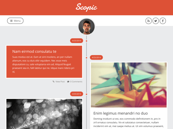 Scopic Personal Blogger Template F Lcontech