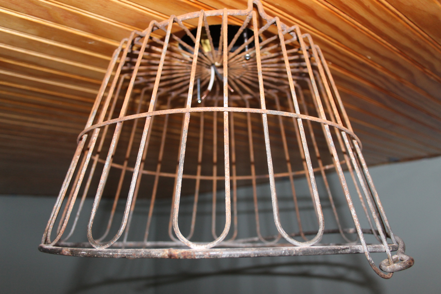 [wire basket light fixture]