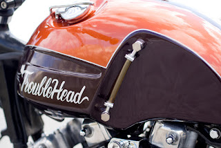 trouble head sportster ironhead by officine rossopuro tank