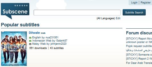 Beberapa Website Tempat Download Subtitle Film Terbaru
