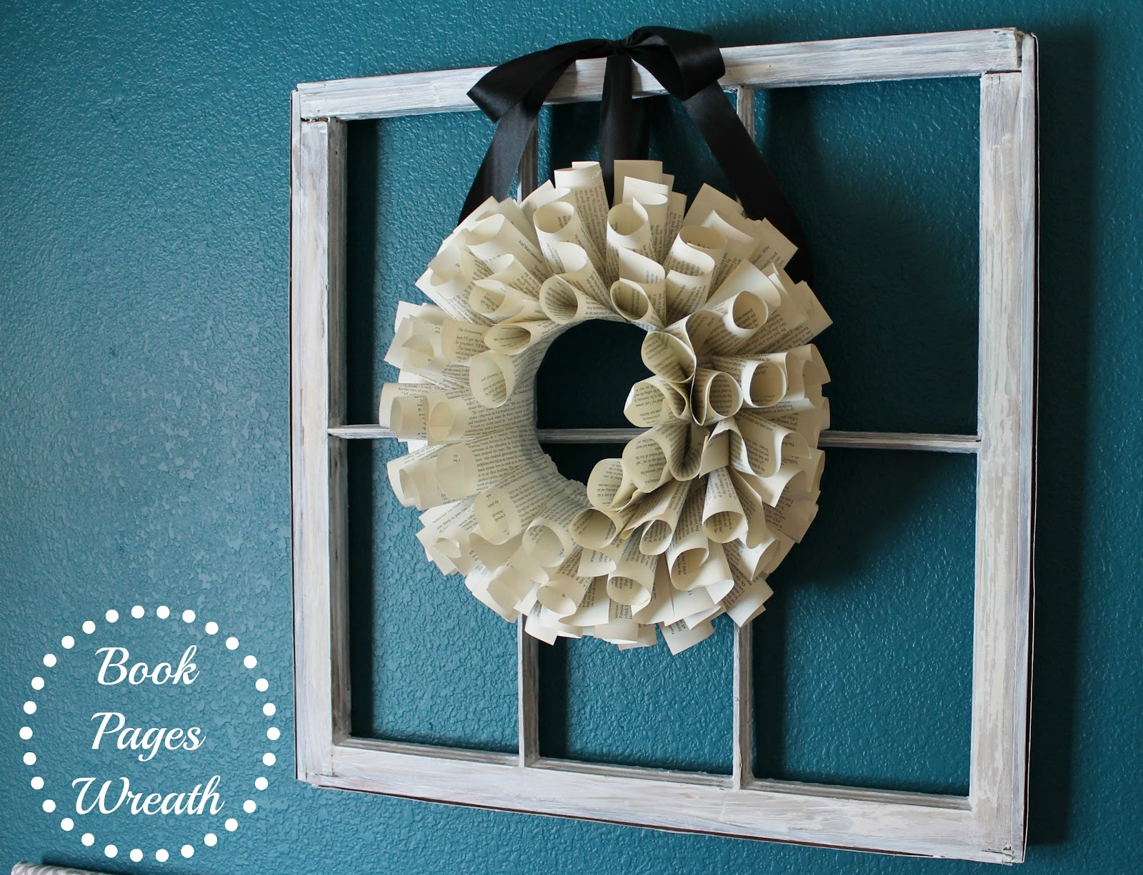Wonderfully Made: Book Pages Wreath