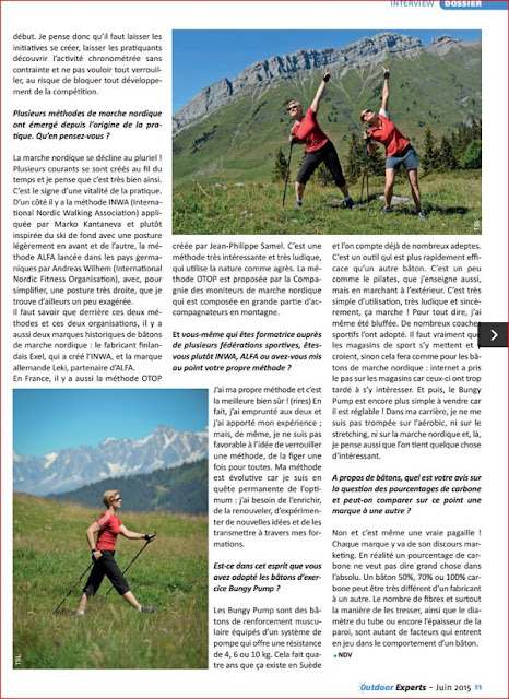 Article dans Outdoor Experts Juin 2015 suite - Bungy Pump