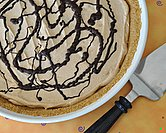 Frozen Chocolate Peanut Butter Pie