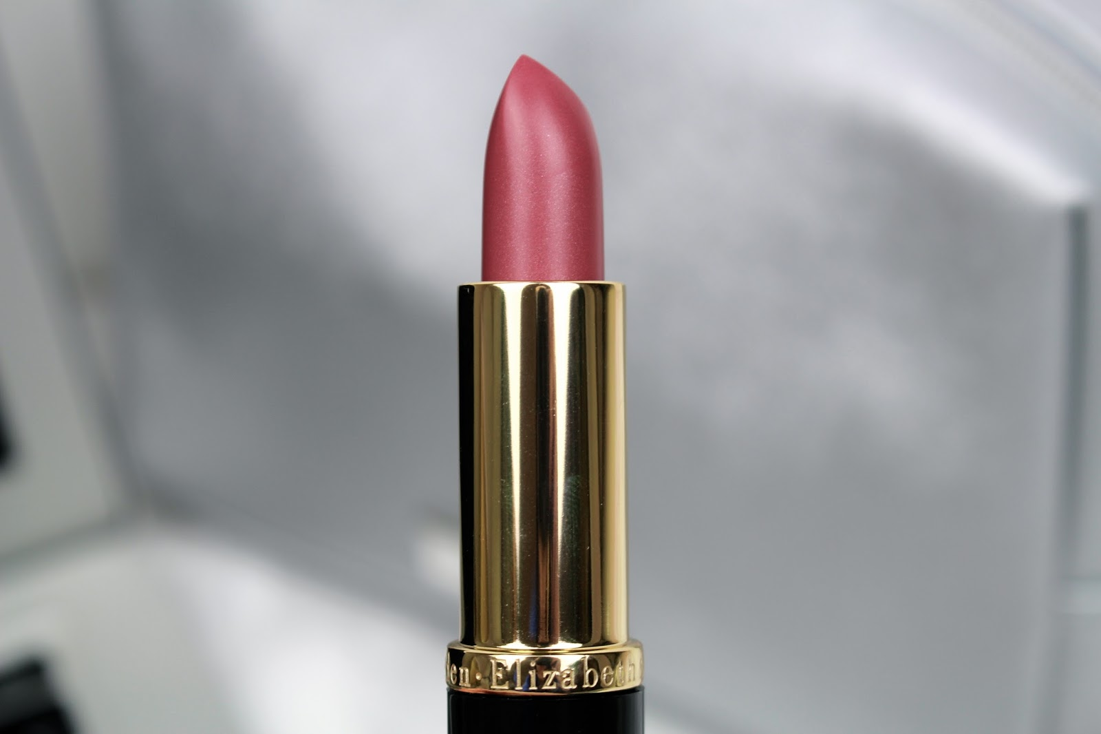 Elizabeth Arden Rose lipstick beauty blog review