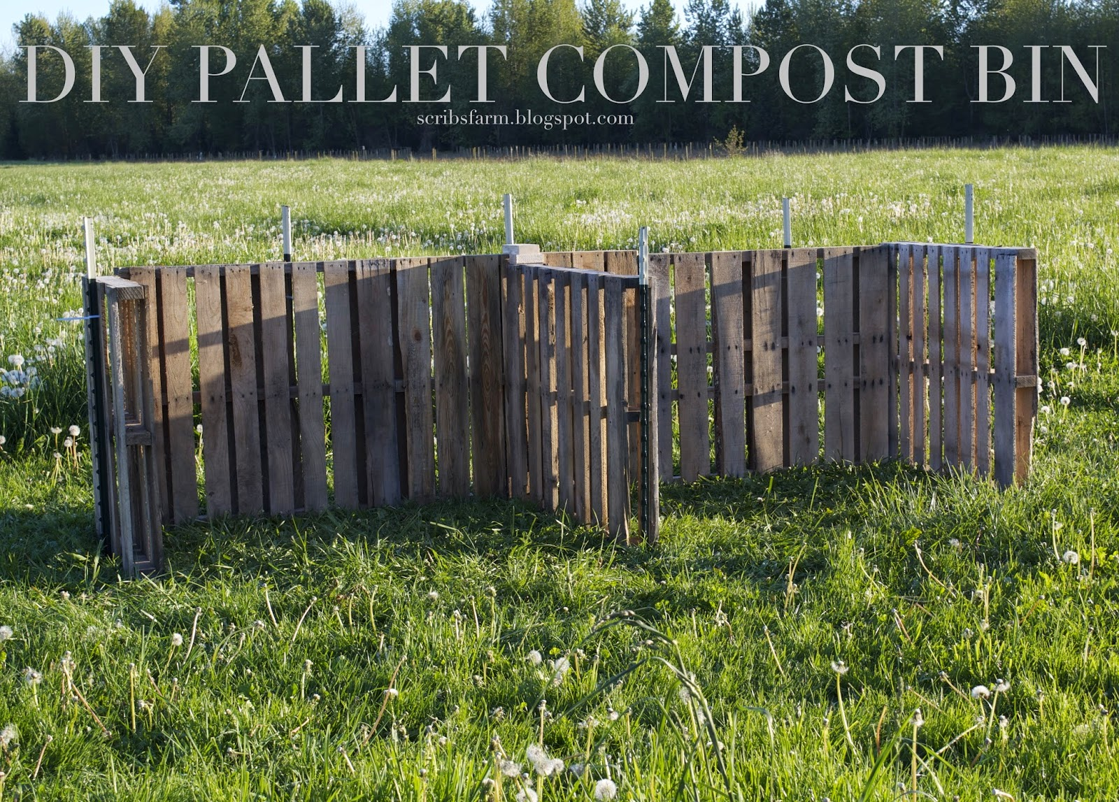 3 walled compost bin