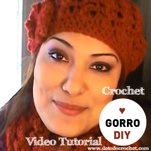 video tutorial de gorro crochet - crochet cap DIY