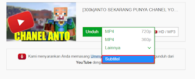 Cara Download Video Youtube Dalam Format MP4