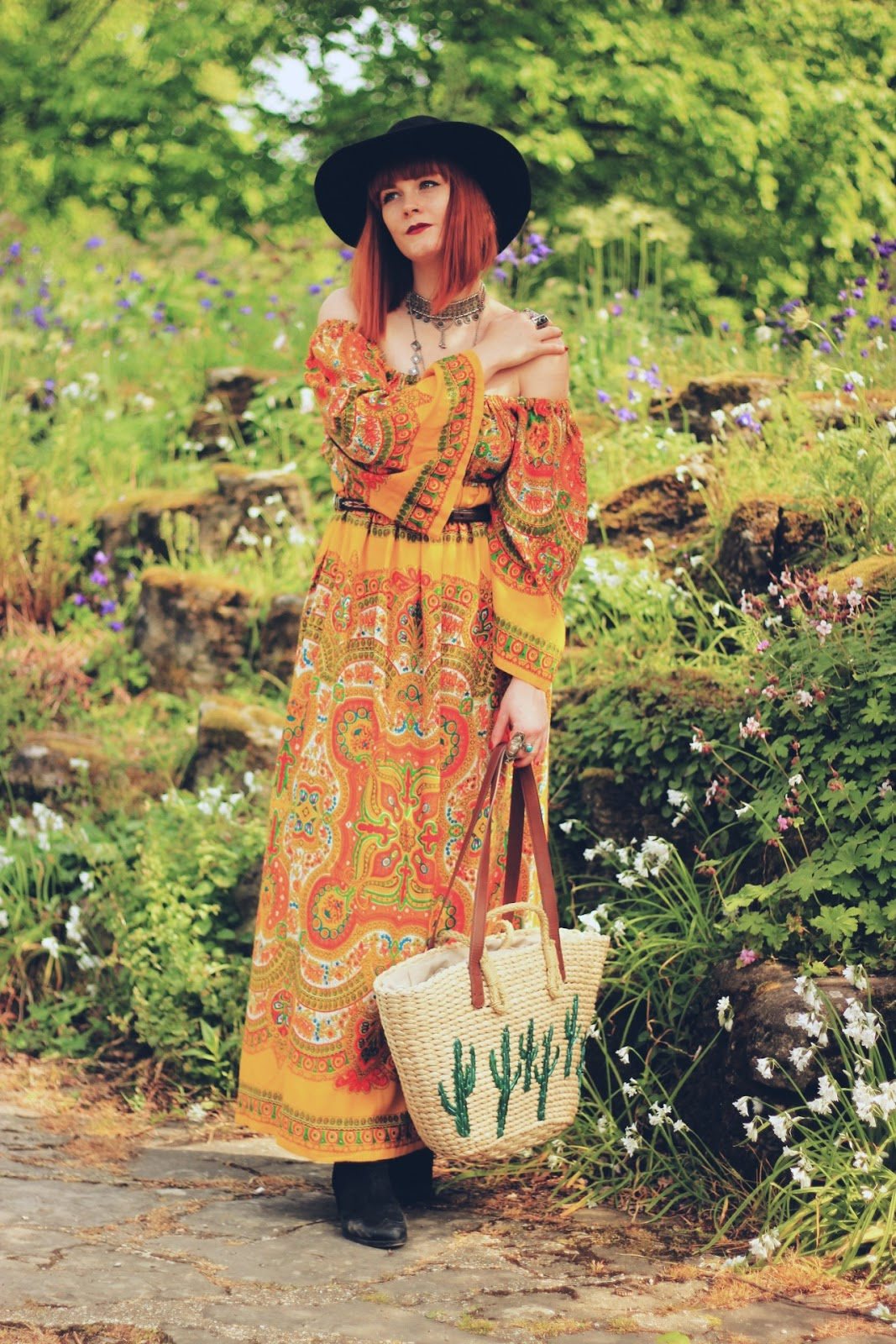 Oxfam Festival Shop Bohemian 70s Dress Fashion Blogger