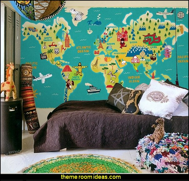 world map  Wallpaper mural world travel themed bedrooms