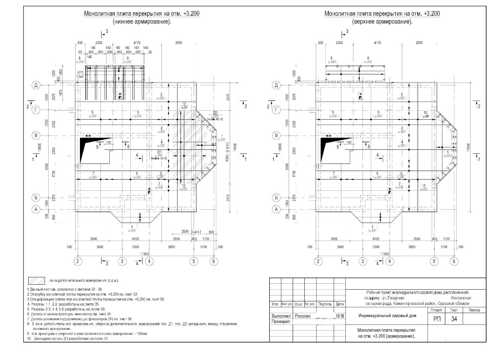 армировка плиты перекрытия схема
