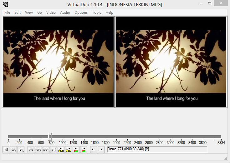 Memotong Video Dengan VirtualDub