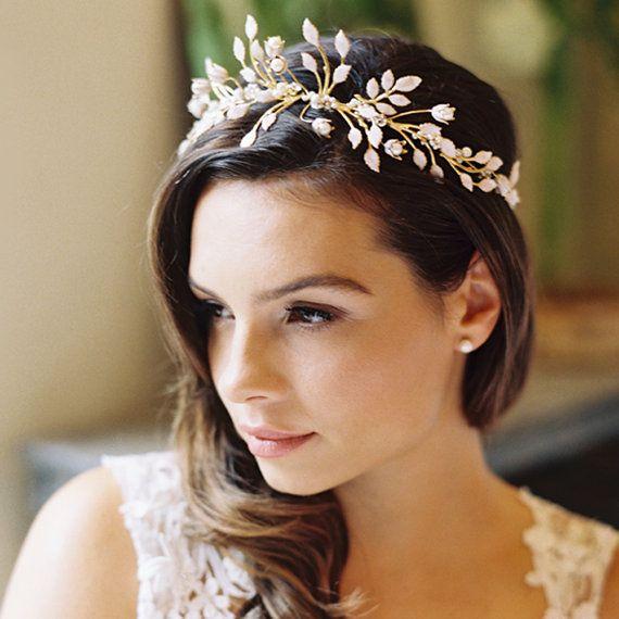 Super Wedding Hairstyles With Flowers And Tiara Wedding Hub Short Hairstyles Gunalazisus