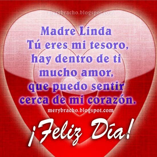 Feliz Día, Madre Linda. Eres un tesoro. Mayo 2014, te amo, te quiero, cumpleaños postales lindas de amor de mamá, imágenes tarjetas de las madres.