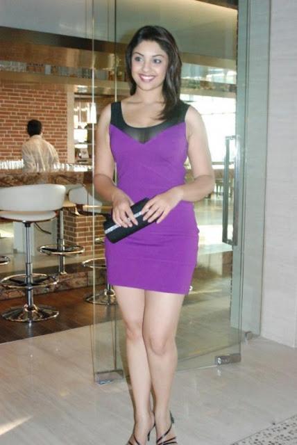 richa gangopadhyay in purple dress short skirt photo