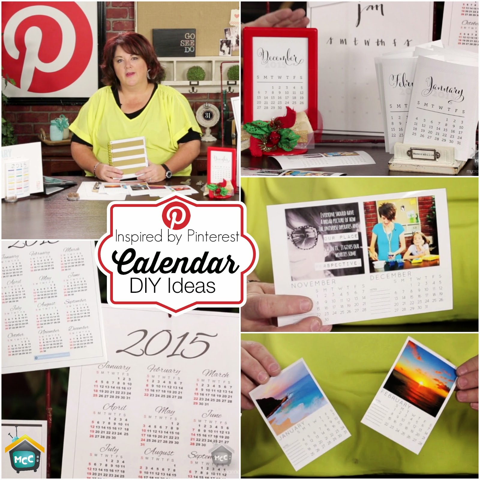 Inspired By Pinterest Calendar Diy Ideas