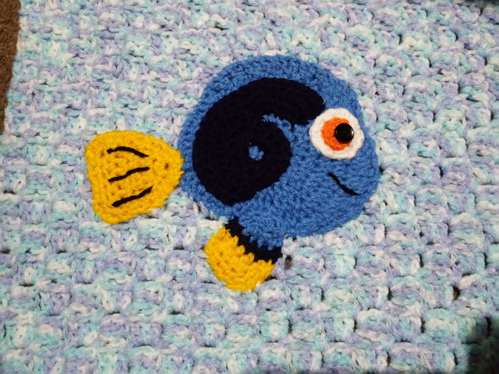 Blooming Lovely: WIP - Crochet - Under The Sea Blanket - Blue Tang ...