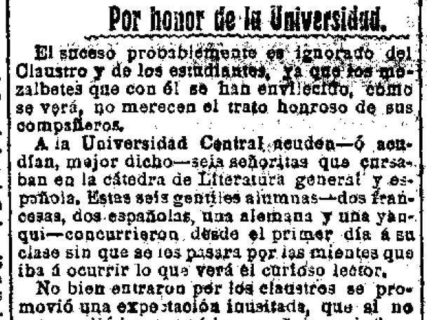Fragmento del artículo de Cristóbal de Castro publicado en el Heraldo de Madrid