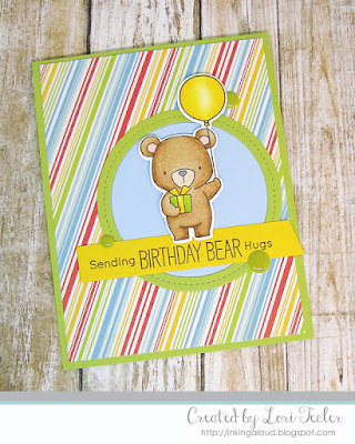 Birthday Bear Hugs card-designed by Lori Tecler/Inking Aloud-stamps and dies from My Favorite Things