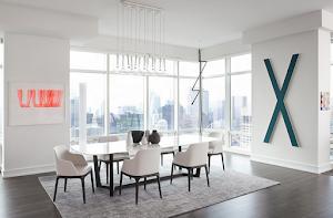 20 Desain Ruang Makan Minimalis modern mewah dengan Kursi Makan Putih elegan