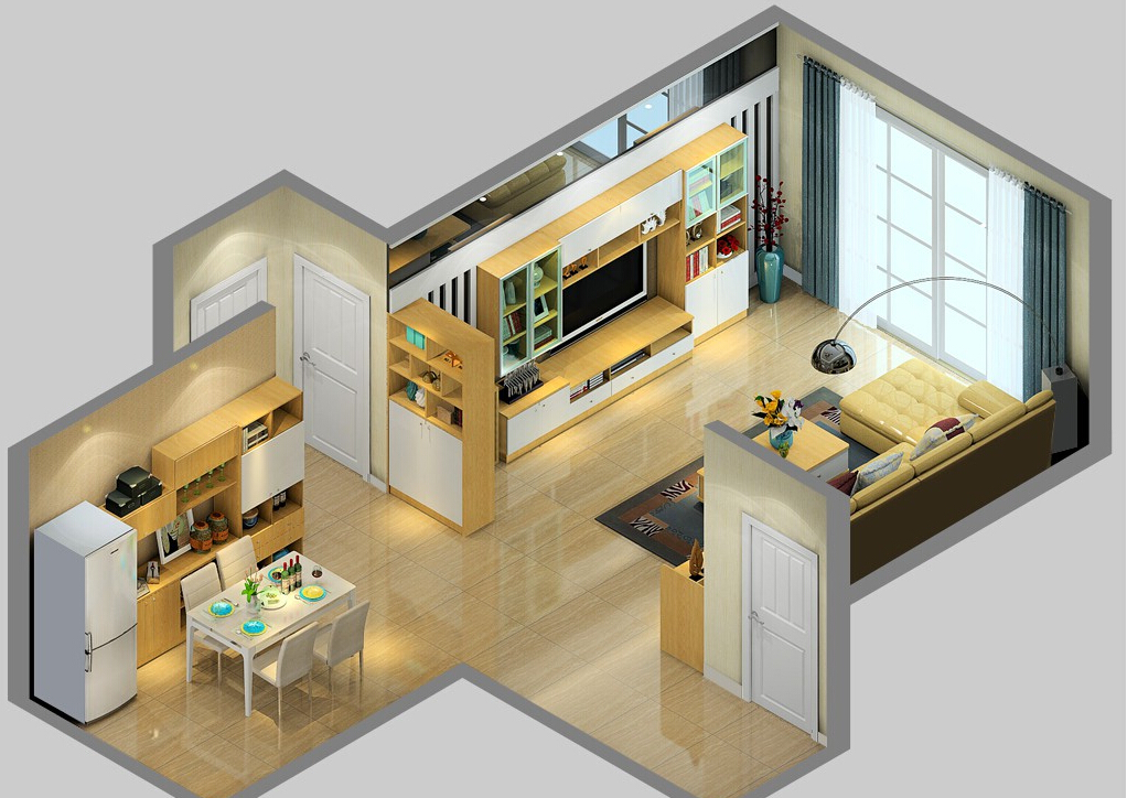 Sky-view-of-modern-Britain-home-interior 35 Sky View 4D American House Plan Styles Interior