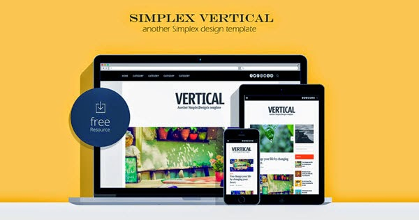 Simplex Vertical - Personal Blogger Template