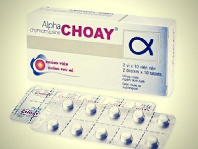 Thuốc chống viêm phù nề Alpha choay