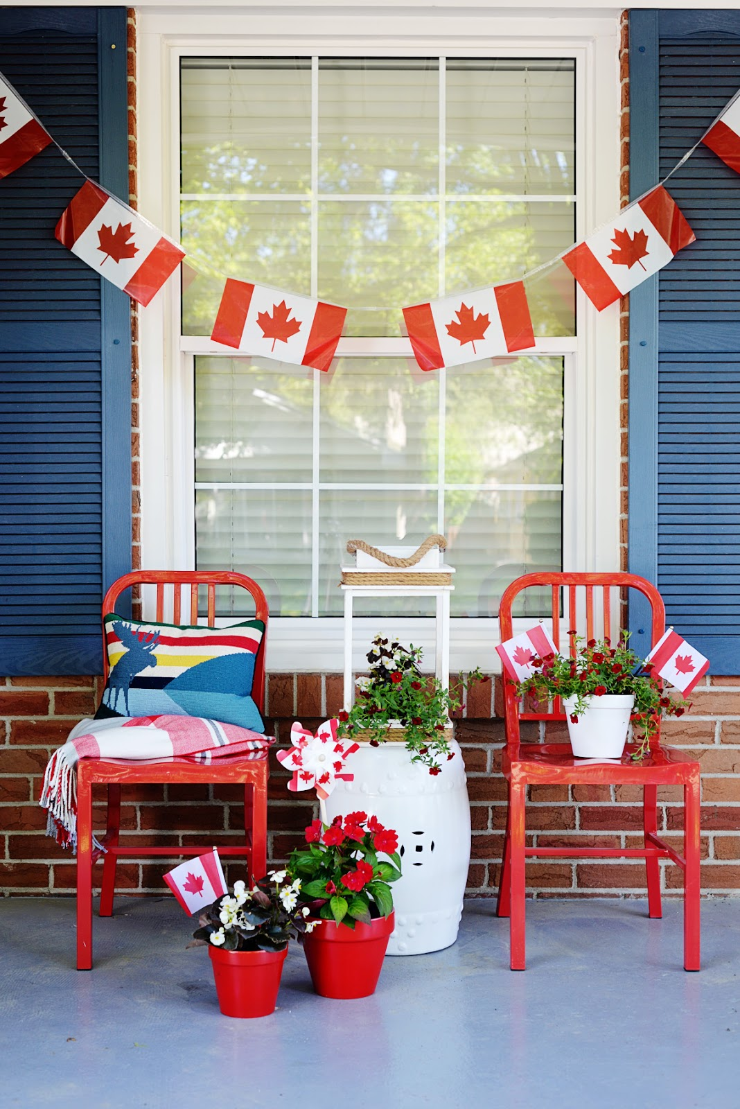 A canada day porch rambling renovators bloglovin for Decorating blogs canada