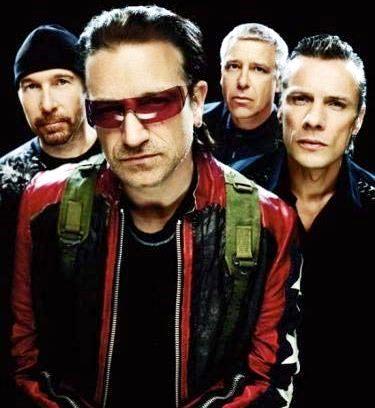 Foto de U2 en sesión fotográfica