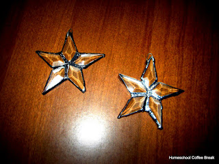 star ornaments - Homeschool Weekly - Winter Storm Edition on Homeschool Coffee Break @ kympossibleblog.blogspot.com