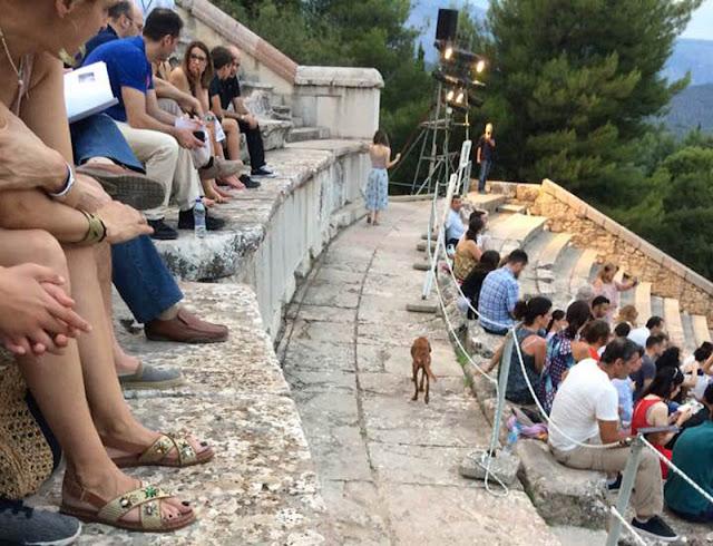 Αργολίδα: Έσωσε το άρρωστο σκυλάκι που περιφερόταν σκελετωμένο στο αρχαίο θέατρο της Επιδαύρου (βίντεο)