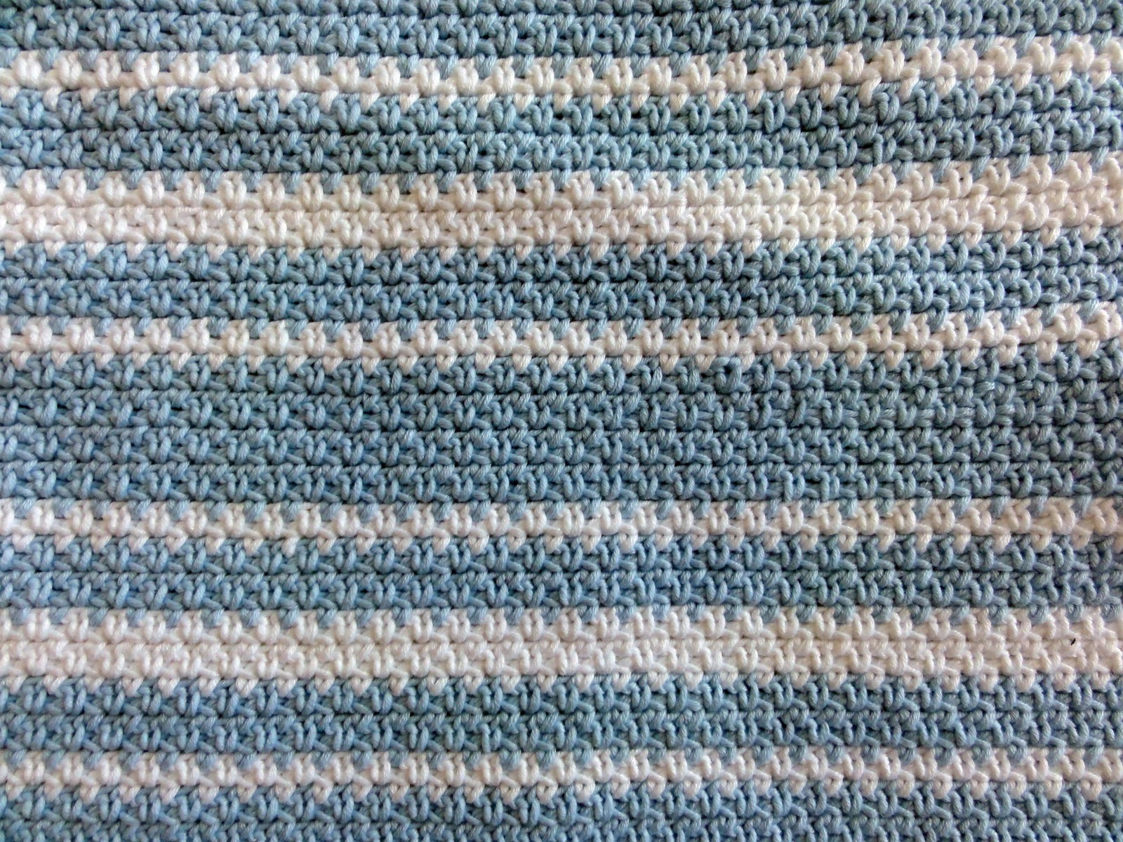 Magnolias And Mess Crochet Baby Boy Blanket