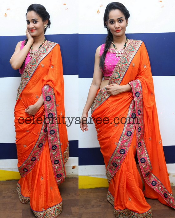 Usha Sree Embroidery Saree