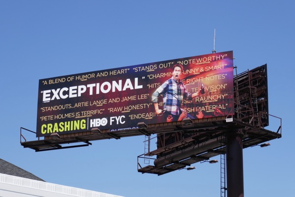 Crashing season 2 Exceptional Emmy FYC billboard