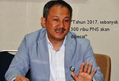 """Pemerintah akan """"Pecat"""" 300 Ribu PNS Tahun Depan"""