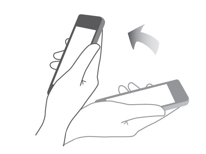 gesture Samsung solleva per diminuire volume suoneria