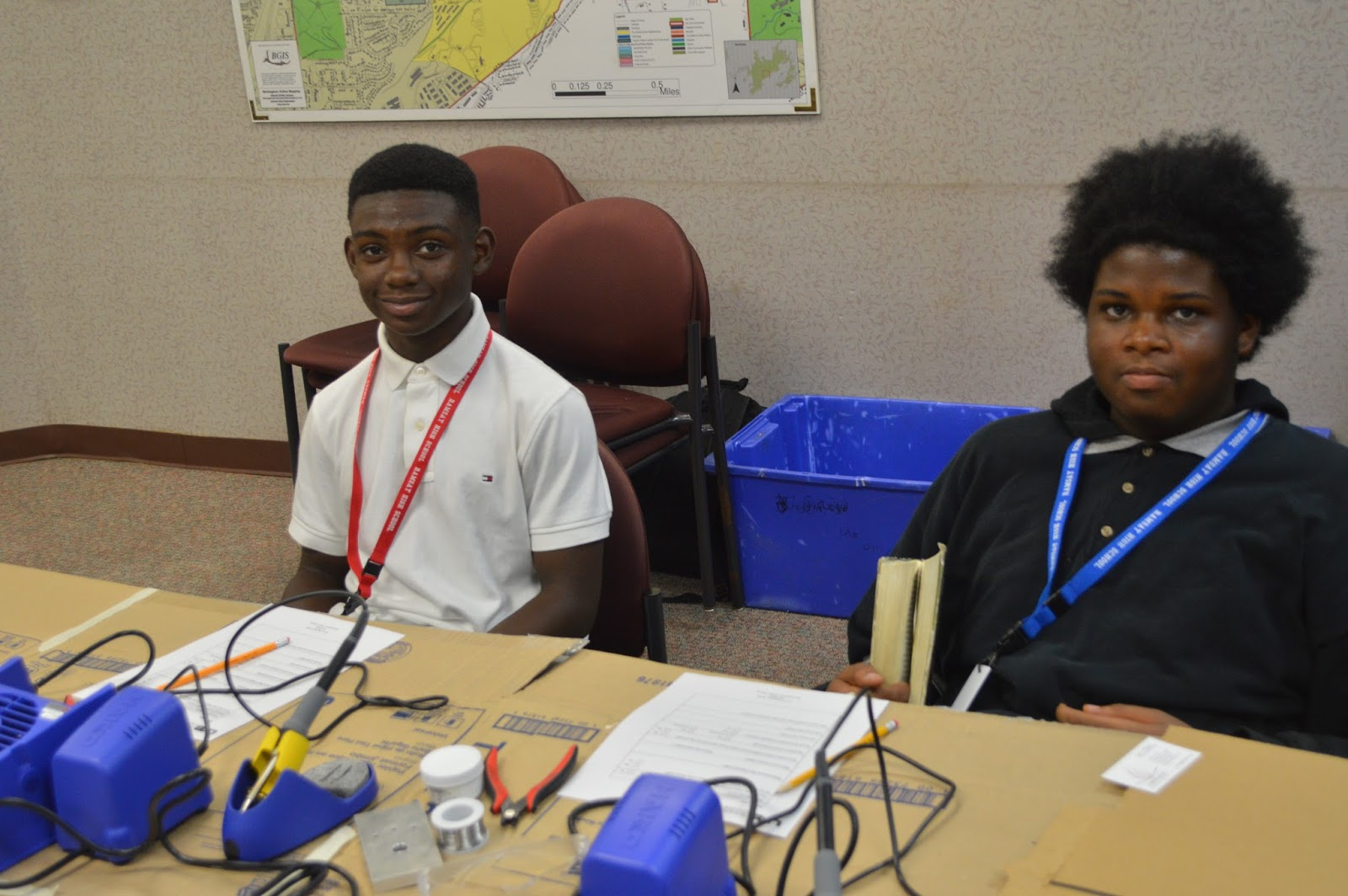 photo of two students at STEM program