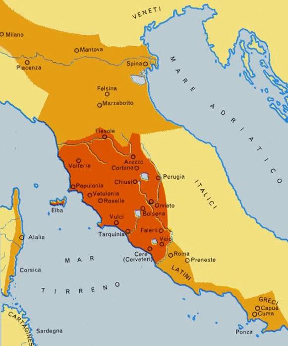Território ocupado pelos etruscos