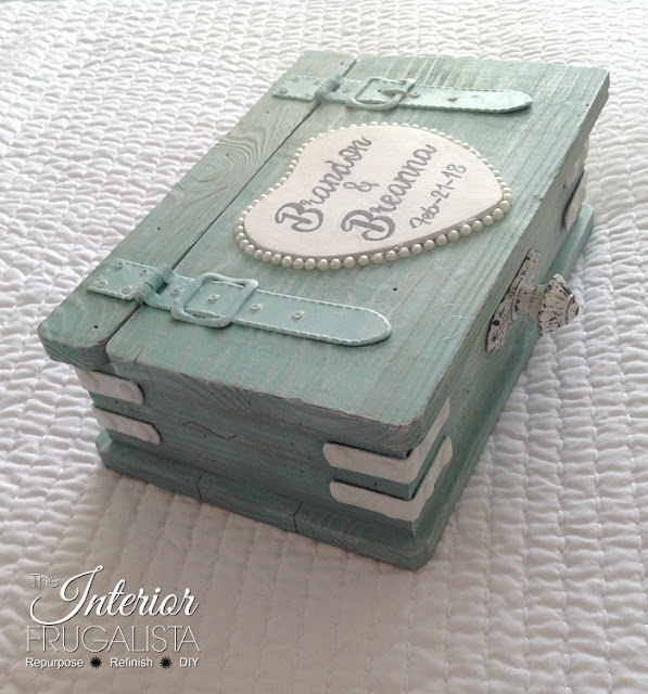 Vintage Paint and more... The Interior Frugalista Beach Destination Wedding Card Box
