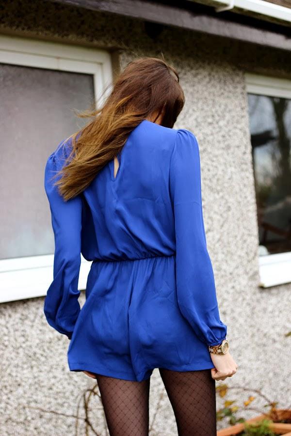 blue wrap playsuit